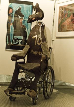 Das Rollstuhlpferd von Franziska Fiedler in seiner aktuellen Form. Foto: Alexander Müller