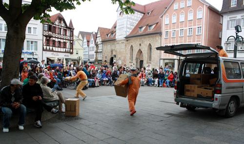 """""""Die Siedler"""", Mezzanin Theater (Graz). Foto: Gerhard Schindler"""