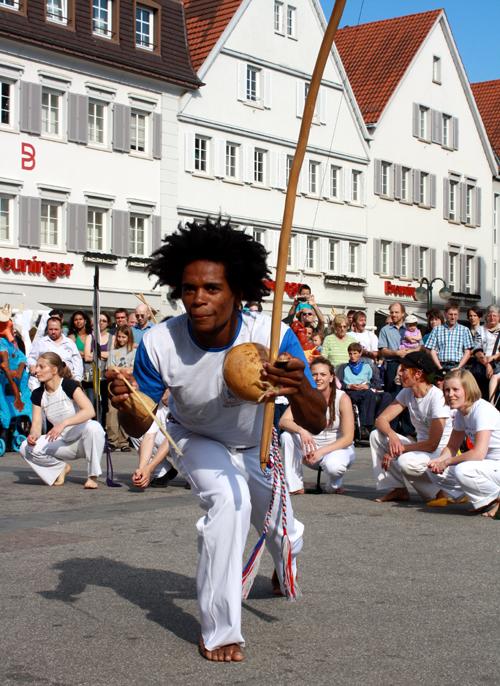 Capoeira aus Reutlingen, Tübingen, Stuttgart und Sao Paolo. Foto: Gerhard Schindler