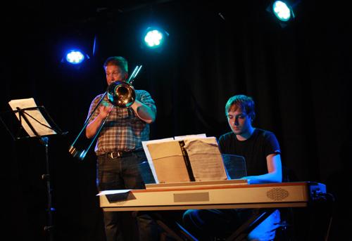 Ausklang mit Arnfried Öhme und Lukas Stapf (von links). Foto: Gerhard Schindler