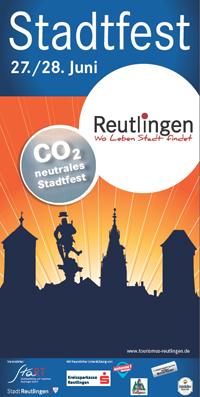 Plakat für das Reutlinger Stadtfest 2014