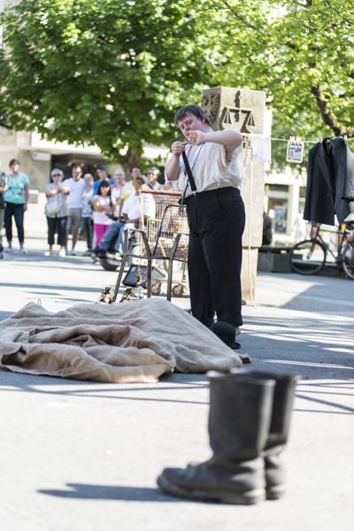 Vorschau-Szenen aus der Beckett-Hommage der Compagnie Création Ephémère. [Foto: Katharina Meier]