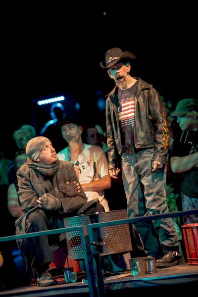 """""""Irresistible: Call of the Sirens"""" vom Theater """"Mind the Gap"""" aus Bradford, Großbritannien. [Foto: Katharina Meier]"""