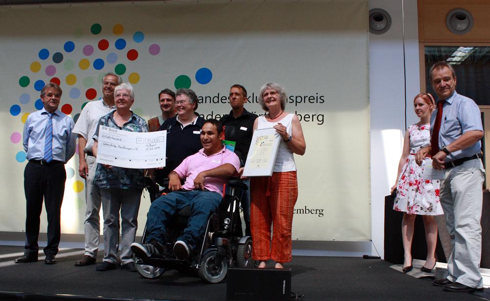 Übergabe des Landesinklusionspreises in Stuttgart. [Foto: Gerhard Schindler]