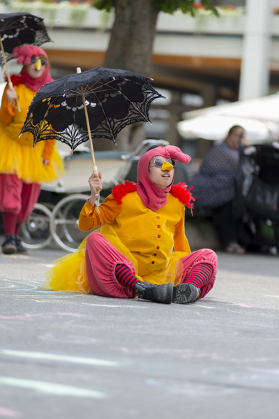 """Chicken Coup!"" von Mind the Gap aus Bradford. [Foto: Katharina Meier]"
