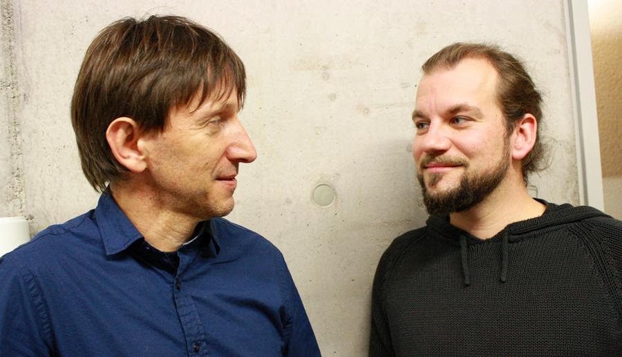 """Das Duo, das """"Kultur ohne Ausnahme"""" ins Laufen bringt: Harald Sickinger (links) und Markus Christ. [Foto: Gerhard Schindler]"""