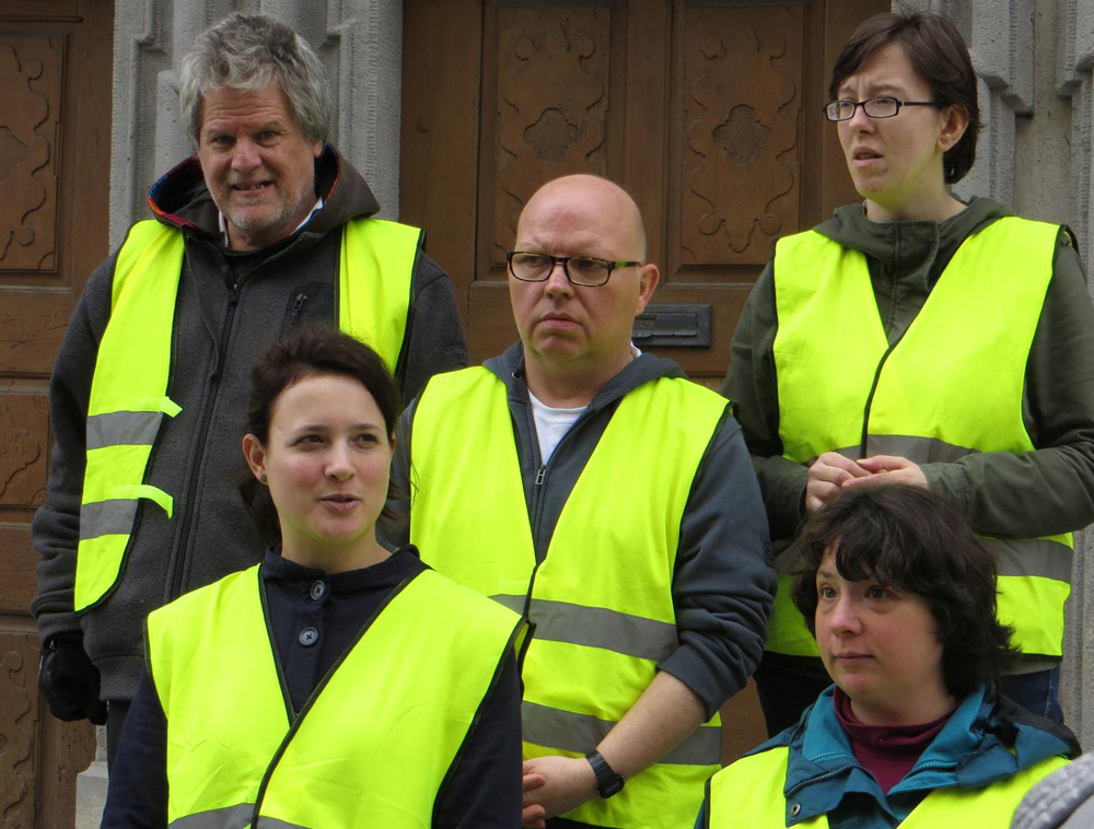 Das Bruderhaus-Team der Erlebnis-Stadtführung. (Foto: Corinna Dmytrenko)