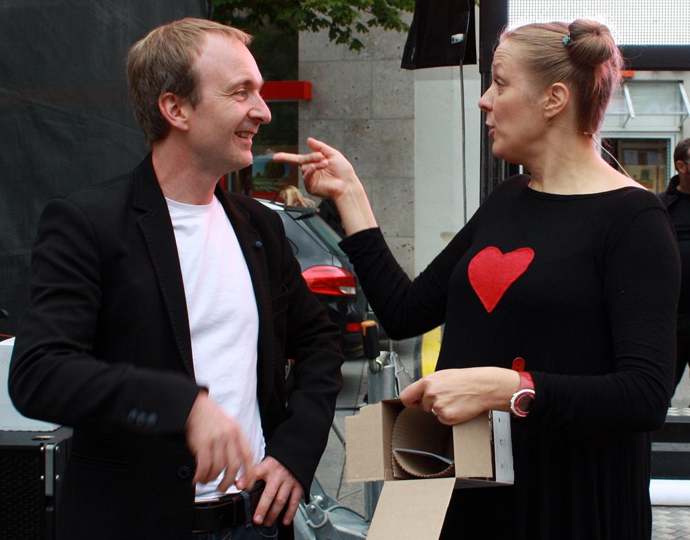 Dreamteam: Dass Sanna Valvanne und Patrick Bopp zum ersten Mal gemeinsam auf einer Bühne standen, war ihnen nicht anzumerken. (Foto: Gerhard Schindler)