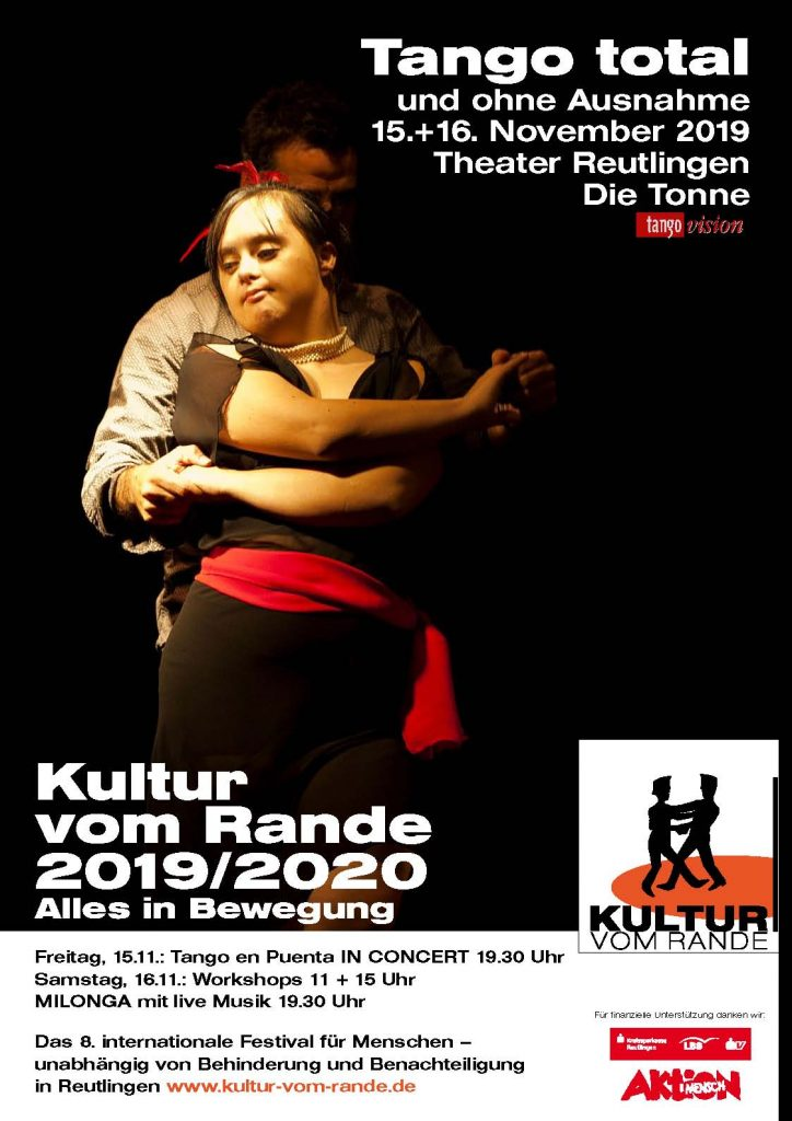 Plakat zu Tango total am 15.+16. November 2019